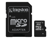 Kingston - Tarjeta de memoria flash (adaptador microSDHC a SD Incluido) - 8 GB - M&N Soluciones Globales